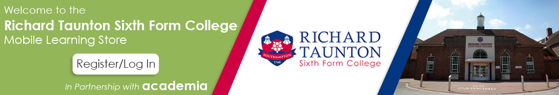 Welcome to the Richard Taunton College Mobile Learning Portal | Academia